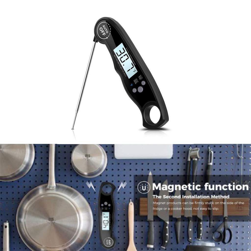 LAOSI Impermeable Digital Lectura instant/ánea Term/ómetro l/íquido Sonda Plegable Funci/ón de calibraci/ón Cocinar Alimentos Parrilla BBQ