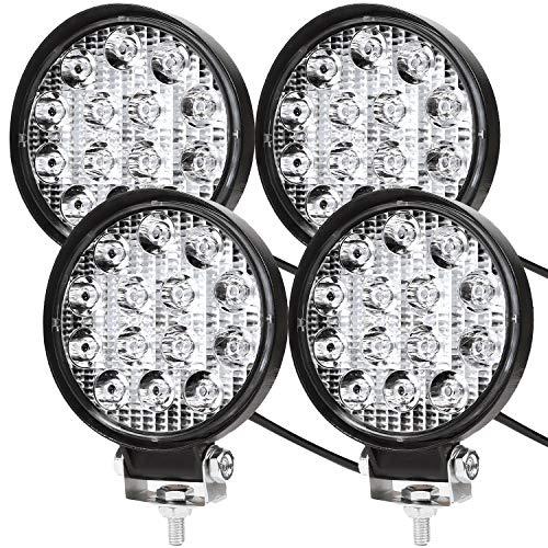Led-werklamp, extra led koplamp voor offroad, 12 V, 24 V, koplamp, IP67-waterdicht, achteruitrijlicht voor tractor, auto…
