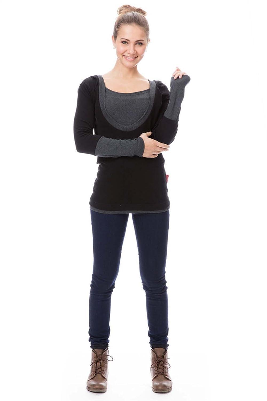 GoFuture Damen Umstandsshirt Stillshirt 3in1 Natalie GF2049