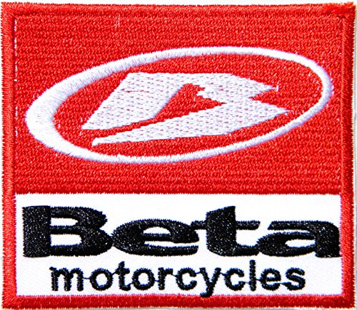 BETA Motorcycle Logo Badge Sign Motocross Biker Dirt Ride Patch Sew Iron on Applique Embroidered T shirt Jacket Baseball Cap Backpack Custom Gift BY SURAPAN