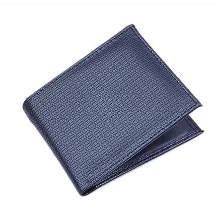 carteras hombre con monedero, neutral Bifold Billetera de cuero Purse Card carteras monederos hombre pu