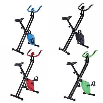 Bicicleta Estática Confidence Fitness Plegable Verde: Amazon.es ...
