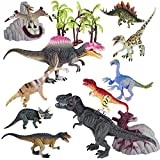 #9: Annyiyi Kids Dinosaur Toys Set for Kids, Realistic Dinosaur Figures with Movable Jaws Including T-rex, Triceratops, Velociraptor and More, Best Toy Gift Party Favor for Toddlers Boys Girls