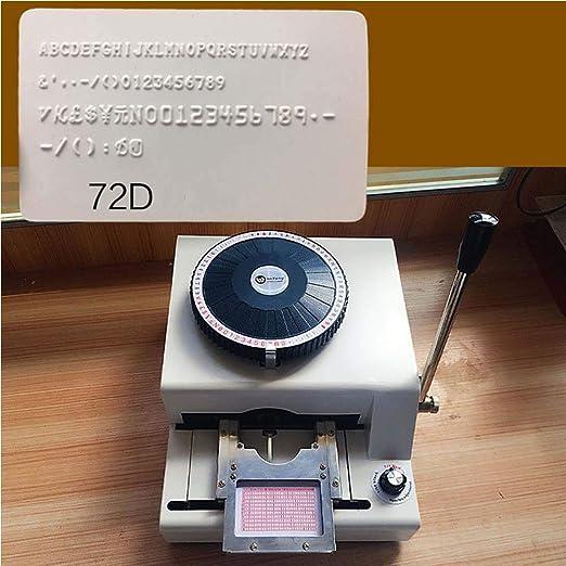 TOPCHANCES - Máquina para grabar en relieve manual (72 caracteres ...