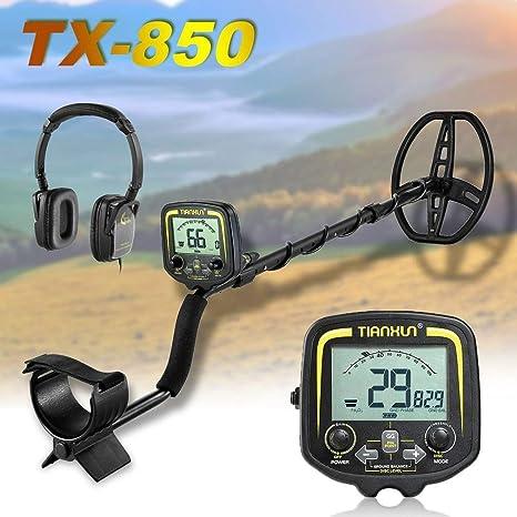 FairytaleMM TX-850 Detector de Metales Profesional Detector de Oro subterráneo de 2,5