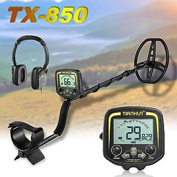 FairytaleMM TX-850 Detector de Metales Profesional Detector de Oro subterráneo de 2, 5 m Detector de Oro Buscador de Tesoros Detector de Pinzas (Color: ...