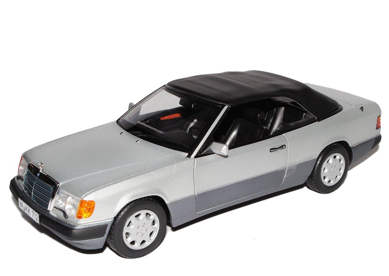 Norev Mercedes-Benz E-Klasse 300 CE W124 A124 Cabrio Silber Grau 1984-1997 1/18 Modell Auto