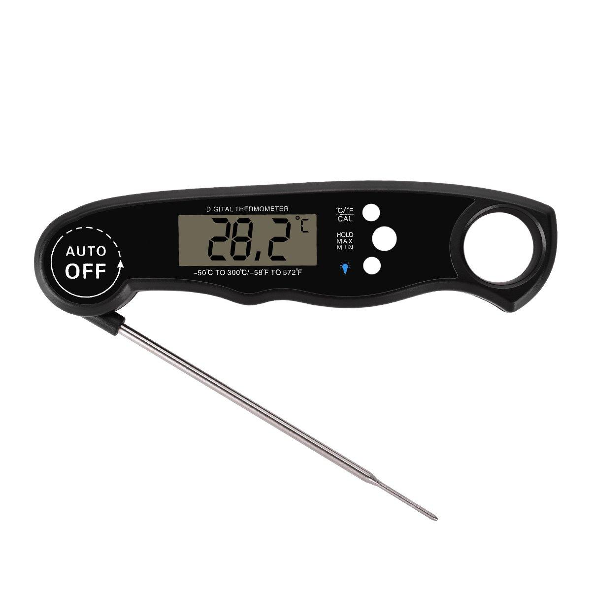 Lole termómetro de cocina digital, lectura instantánea - carne, barbacoa, de cocina, comida, para carne, Turquía, Candy, leche, agua del baño termómetro ...