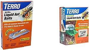 Terro T300B Liquid Ant Bait Ant Killer, 12 Bait Stations & 1806 Outdoor Liquid Ant Baits, 1.0 fl. oz. - 6 Count