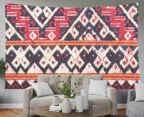 - Anucky Tapestry Wall Hanging, Tapestries Polyester Fabric for Home Decoration,Ancient Fabric Colorful Thai Silk Peruvian Style Rug Surface Close Up Dorm Décor and Bedroom 80x60 inch Huge Tapestry