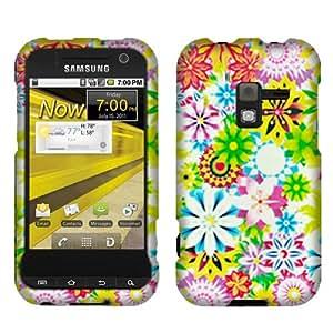 Fincibo (TM) Samsung Conquer Attain 4G D600 R920 Snap On Hard Protector Cover Case - Spring Garden