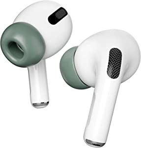 INTLIFE 3 Pairs Memory Foam Ear Tips Compatible with Apple AirPods Pro, Memory Foam Reducing Noise in-Ear Replacement Eartips Accessories (Fit in The Charging Case) (S/M/L, Midnight Green)