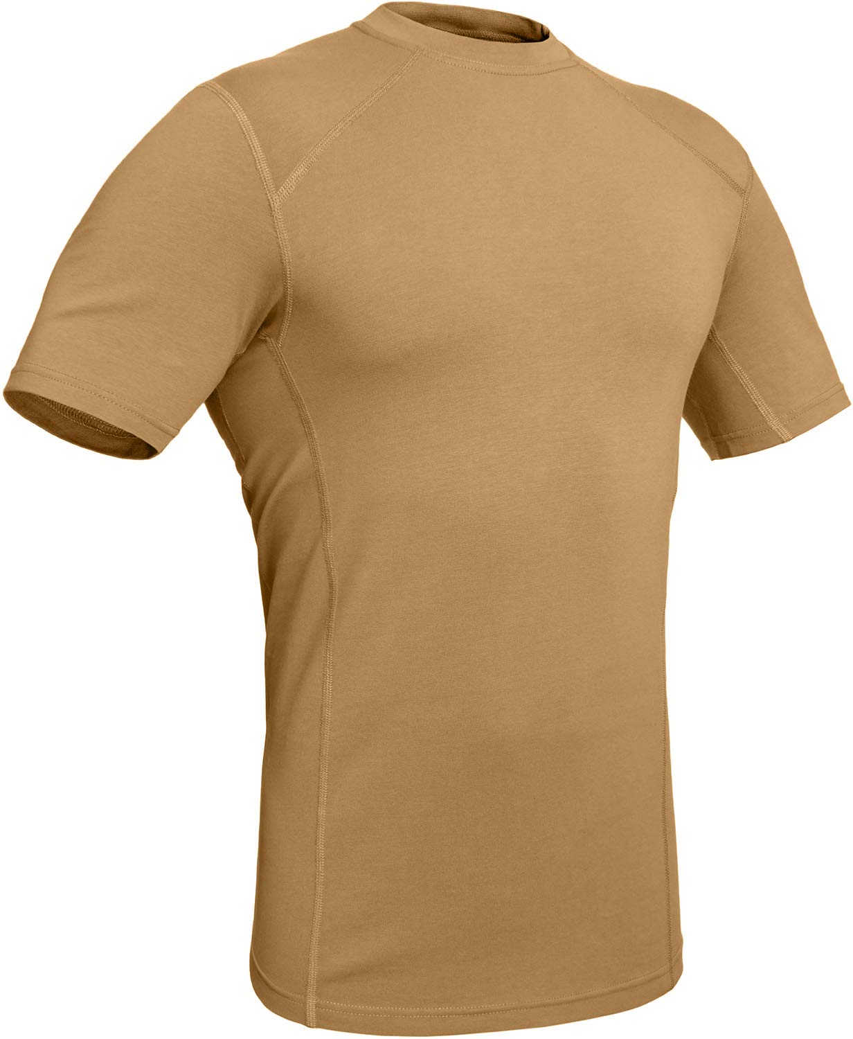 281Z Military Stretch Cotton Underwear T-Shirt - Tactical Hiking Outdoor - Punisher Combat Line (Coyote Brown, Medium)