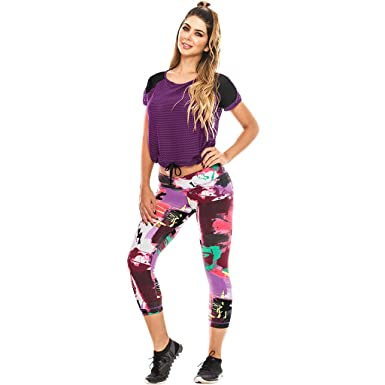 Babalu Fashion Babalú Fashion Gym Colored Shirts For Women Workout Fitness Tees Camisetas Deportivas Mujer Wine