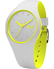 Ice-Watch - Ice Duo Grey Yellow - Montre Grise Mixte avec Bracelet en Silicone - 001500 (Medium)