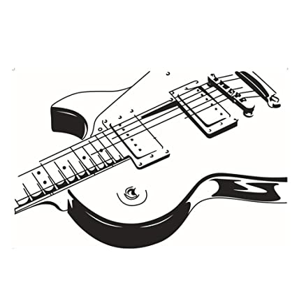 Large Guitar Music Instrument Wall Sticker Decal For Home And Music