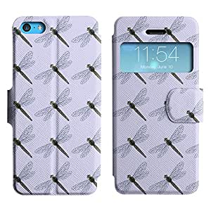 LEOCASE saltamontes lindo Funda Carcasa Cuero Tapa Case Para Apple iPhone 5C No.1005513
