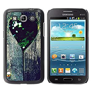 YiPhone /// Premium Slim Snap Back Case Cover Armor Shell - Love Retro Tree Heart;; - Samsung Galaxy Win I8550 I8552 Grand Quattro