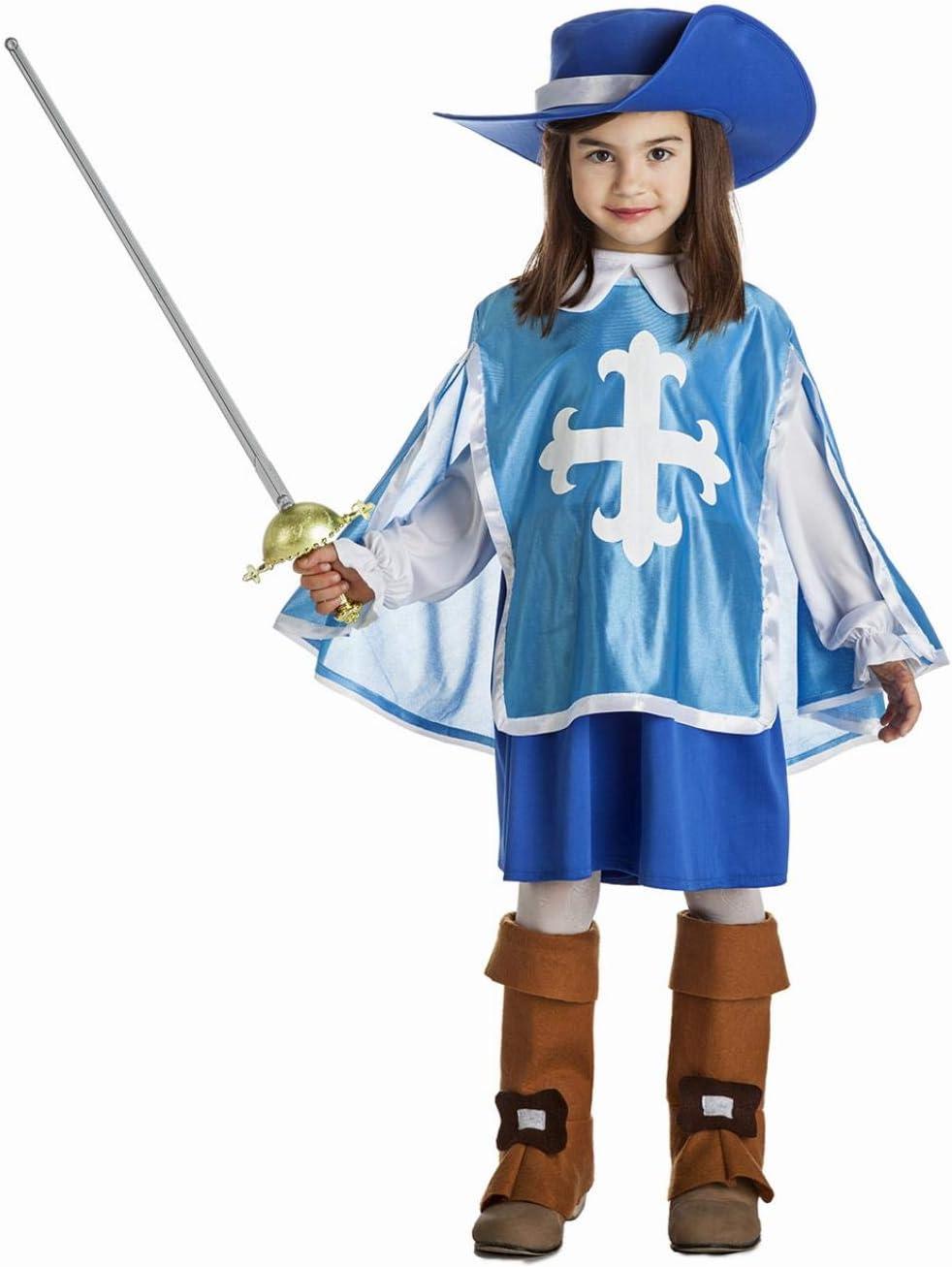 Disfraz de Mosquetera azul para niña: Amazon.es: Juguetes y juegos
