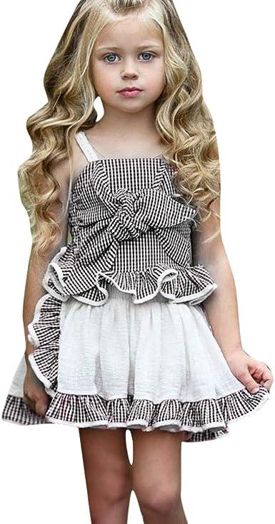 UK Infant Baby Girl Dress Kid Cartoon Top Clothes Fox Skirt Dress+Headband 2PCS