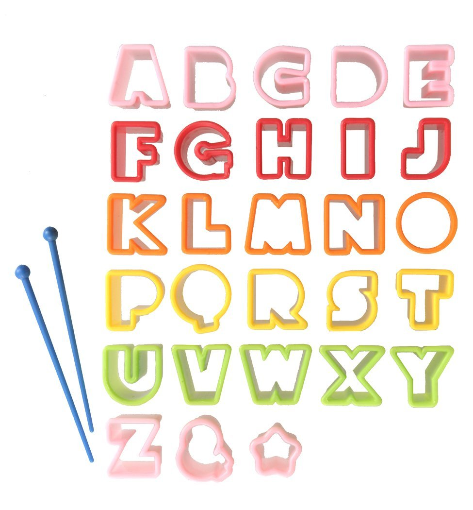 Cute Z Cute Bento Ham Cheese Carrot Cutter, Letters, 28 Piece by Torune