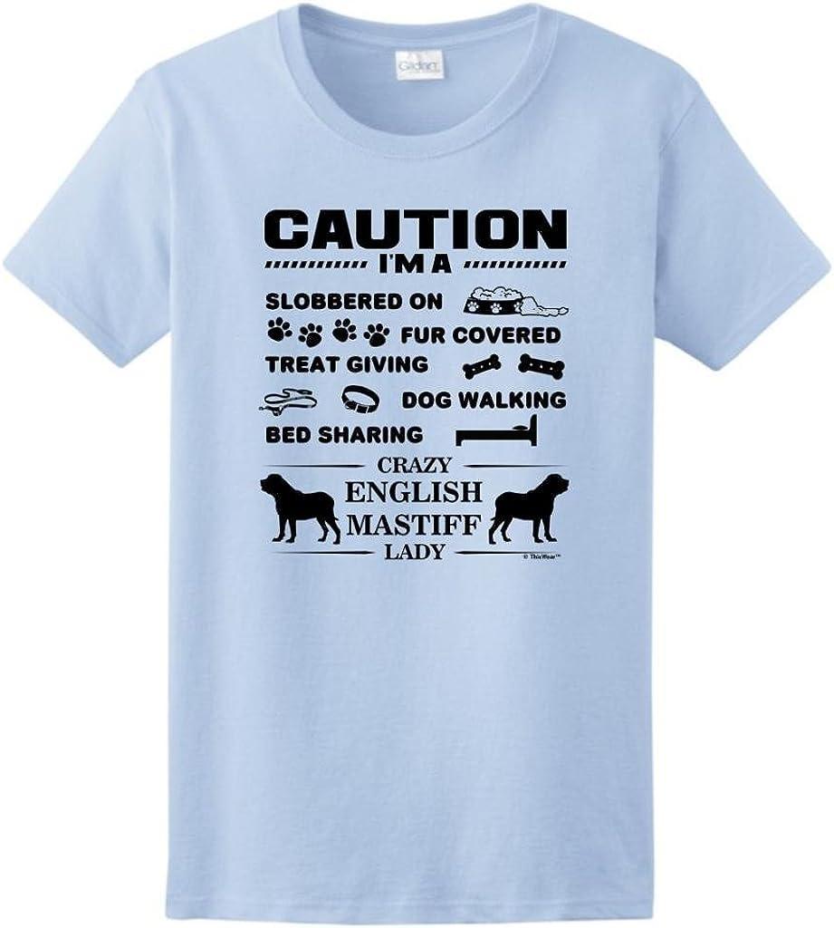 Protected by English Mastiff Shirt Clothing Tee Shirt