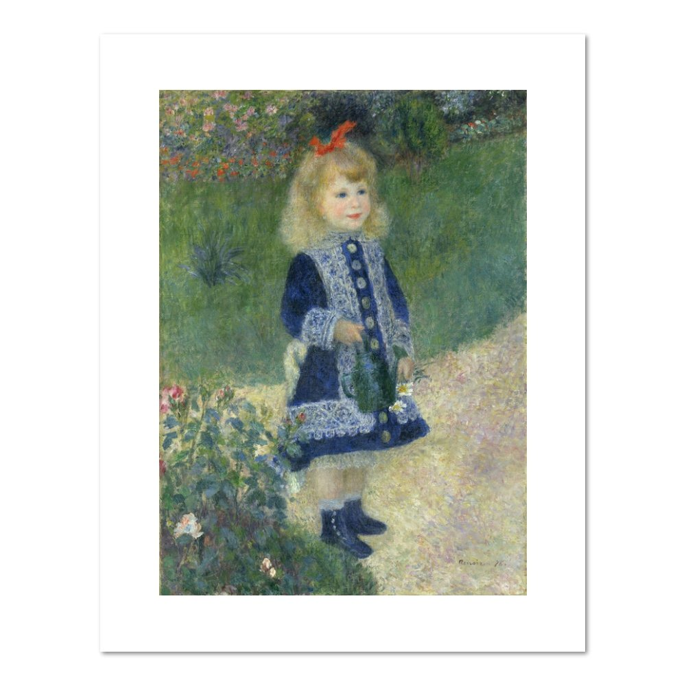 A Girl With A Watering Can by pierre-auguste Renoir , 1876。アートプリント 32x40 11666_3240_ungc B016J4C2IS フレームなし 32x40
