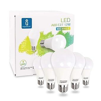 Aigostar - Bombilla LED E27, 12W equivalente a 100W, Luz calida 3000K, 984