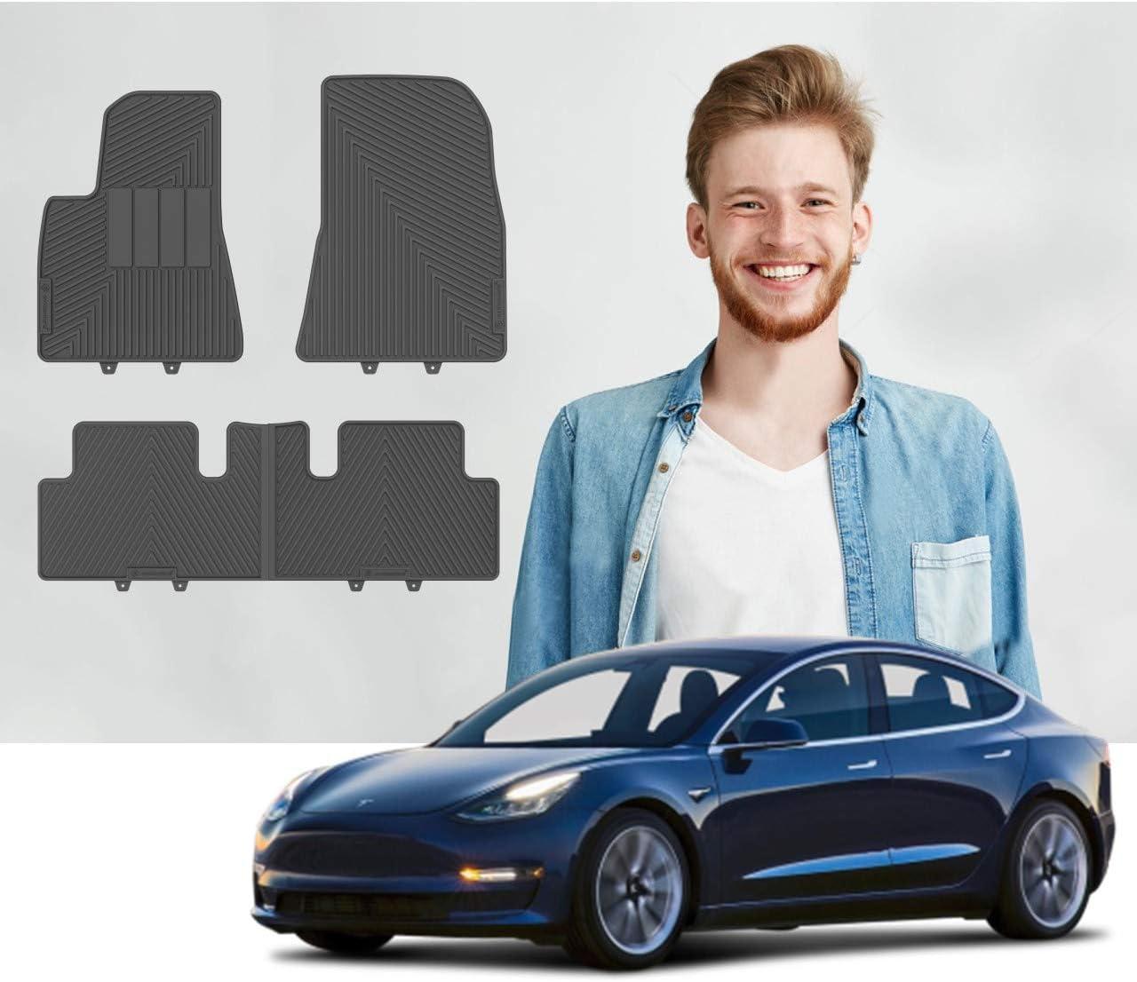Road Comforts Car Floor Mats for 2017-2021 Tesla Model 3