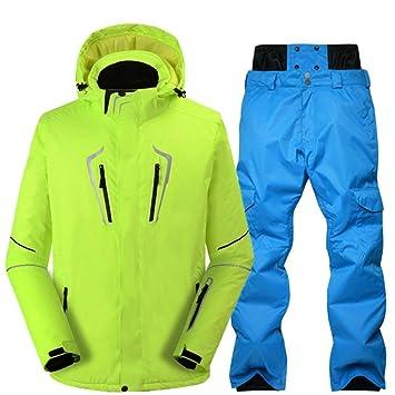 KAZSH Traje de esquí Traje de esquí Hombre Resistente al Viento ...