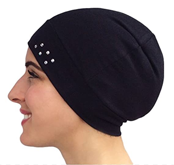 STUNNING Comfortable (COTTON BLEND) Chemo Cap Sleep Cap Hat or Helmet Liner  - (. Roll over image to zoom in. Uptown Girl Headwear 0f1e177c6a49