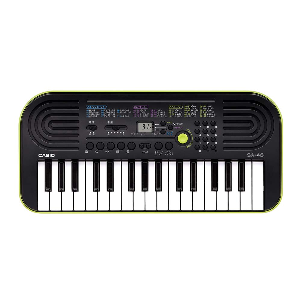 Black & Green Casio Sa-46 Mini Keyboard Mini Keyboard 32