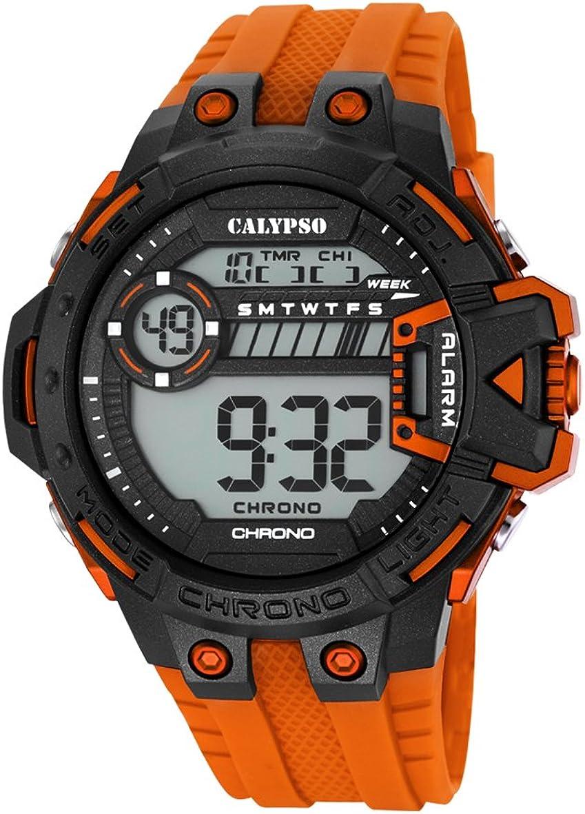 Calypso Watches Reloj Digital para Hombre de Cuarzo con Correa en Caucho K5696_4