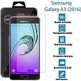 TOPACCS - Samsung Galaxy A3 (2016) - Véritable vitre de protection écran en Verre trempé ultra résistante - AVEC BOITE