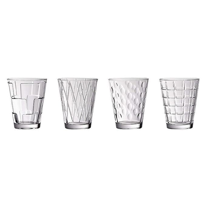 Villeroy & Boch Dressed Up Vasos de agua, Set de 4 piezas, 310 ml, Cristal, Transparente: Amazon.es: Hogar