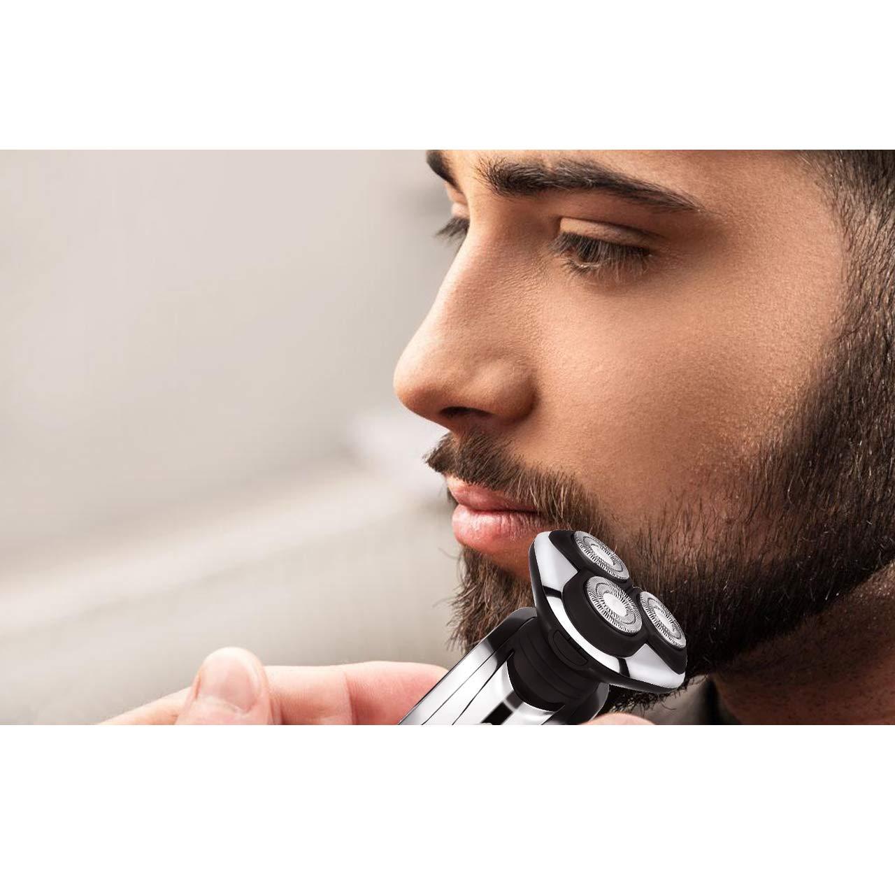 POVOS - Juego de afeitado para hombre 4 en 1, afeitadora giratoria ...