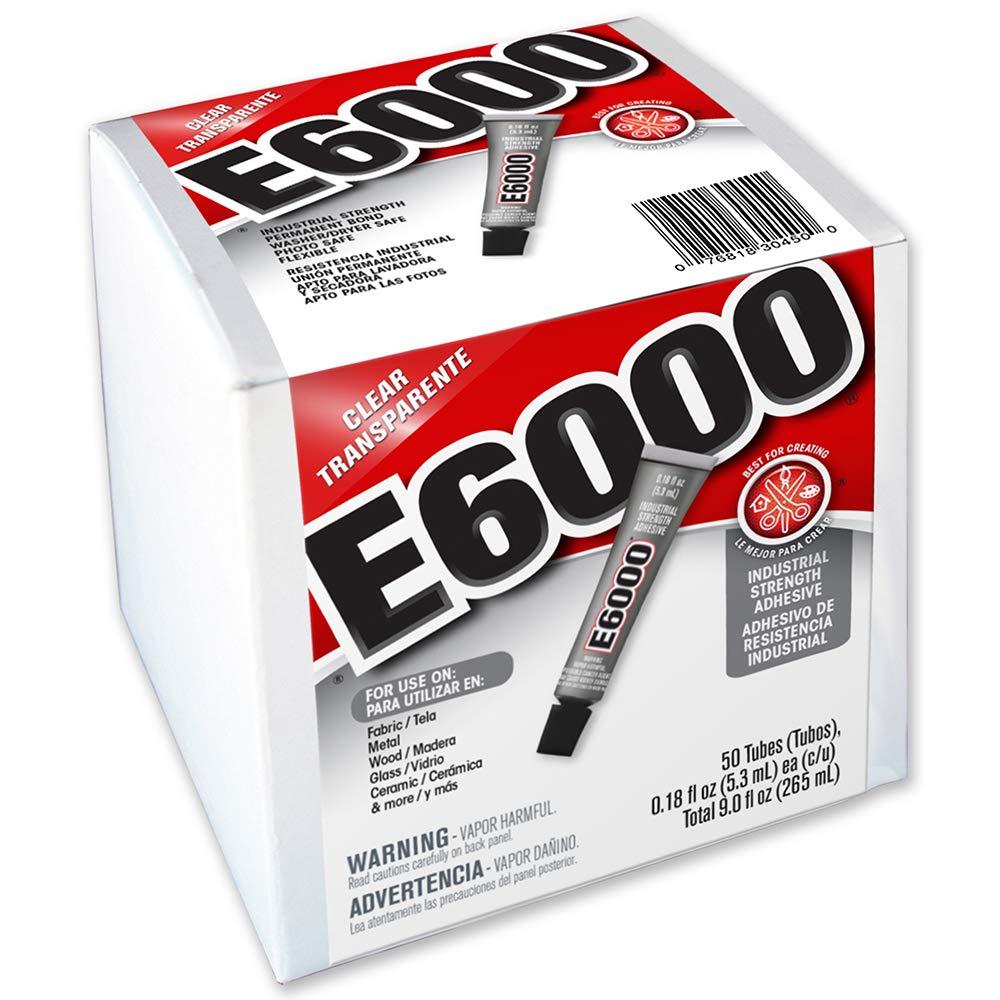 E6000 230450 Craft Adhesive, 0.18 fl oz,  50 Piece Box by E6000