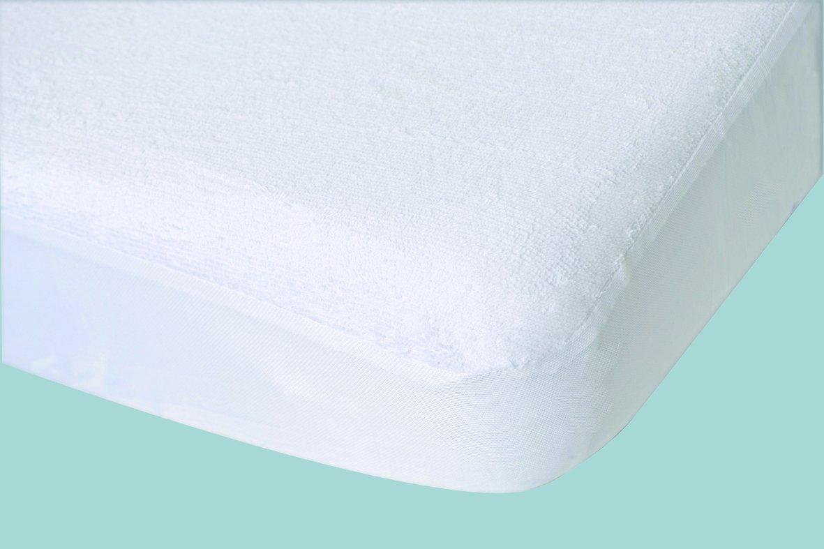 poyetmotte tuc/án Protector de colch/ón, 50/x 100/cm color blanco