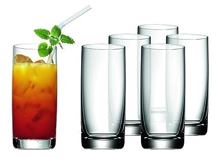 WMF Easy Juego 6 Vasos para refrescos, Vidrio