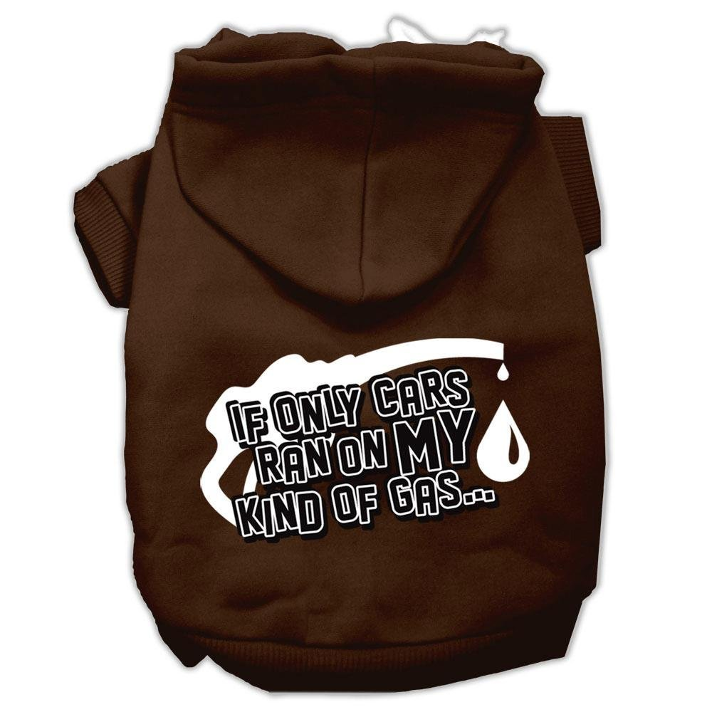 Mirage Pet Products 62-45 XXXLBR My Kind of Gas Screen Print Brown Pet Hoodie, X-Large