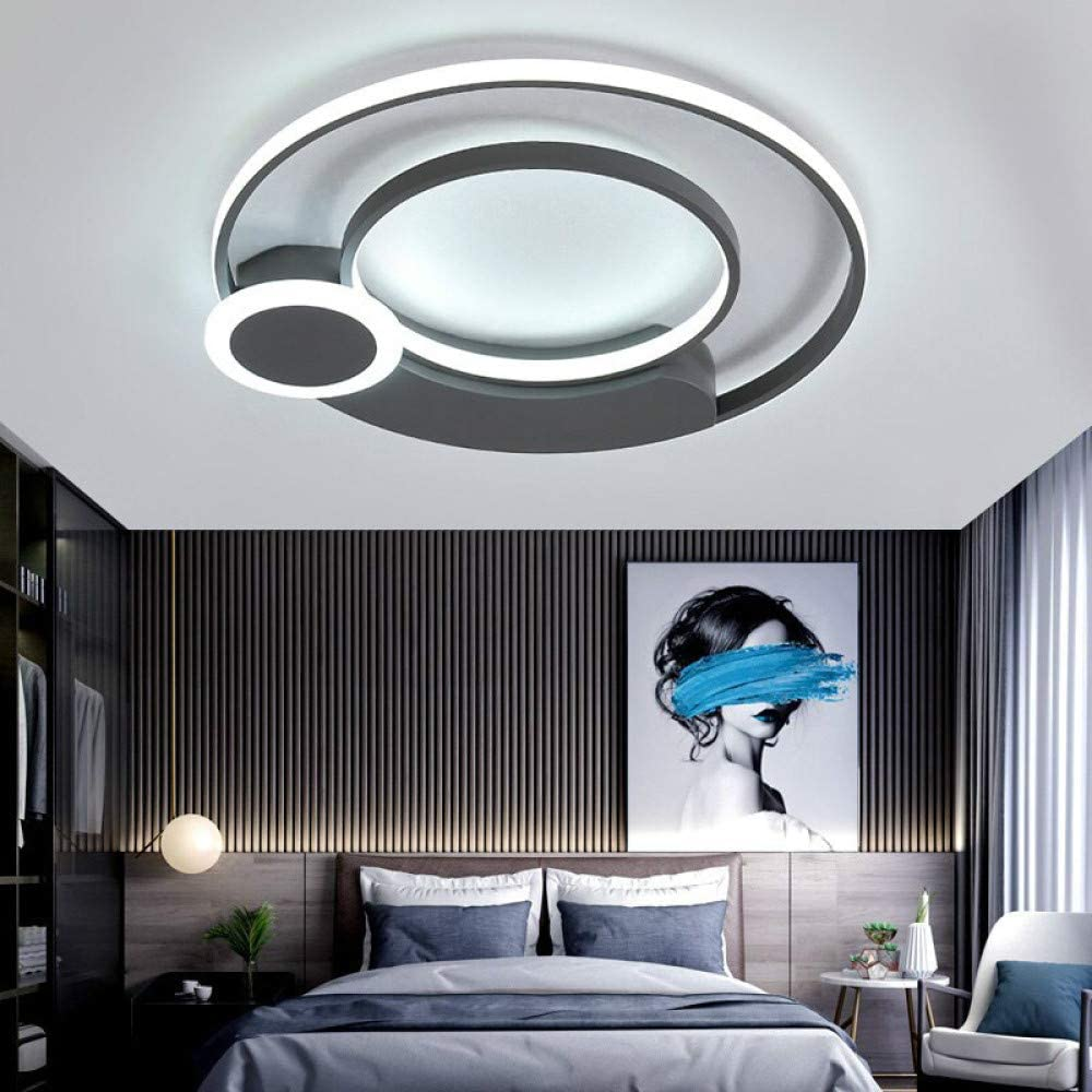 WSYYWD Lámpara de dormitorio redonda moderna, lámpara de techo de ...