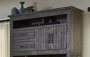 Progressive Furniture Nest Entertainment, Distressed Dark Gray
