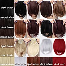 """New Fashion 8""""(20cm) Bangs Clip in Hair Extensions on 1pcs Fringe Bang Hairpiece Straight Black Brown Blonde (Straight-Dark Brown)"""