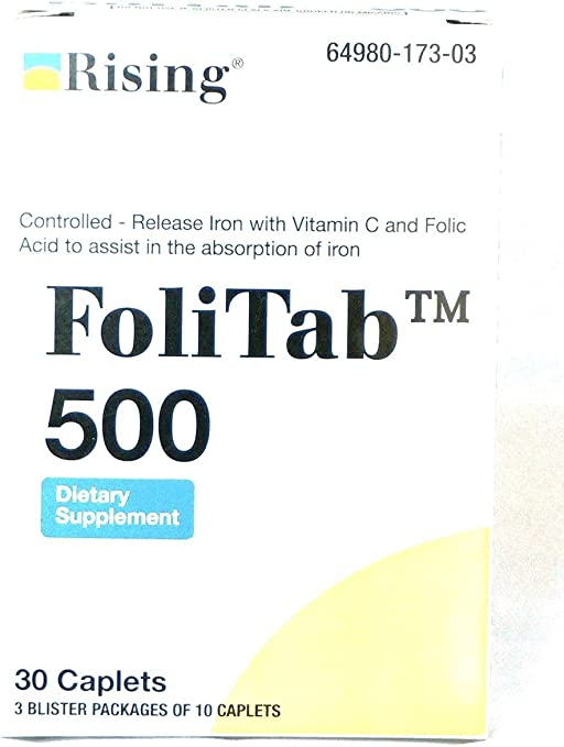 Amazon.com: folitab Vit C 500 controlled-released Hierro con ...
