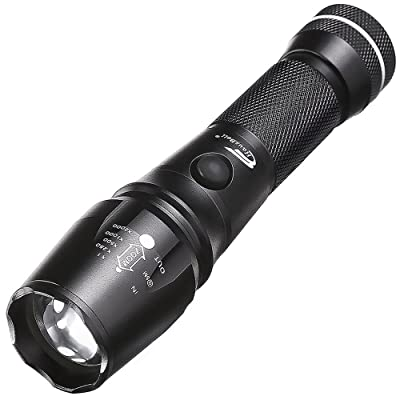 Super Bright Flashlights, Hausbell Magnet Base T6-C 800lumen LED Flashlight 5 Modes Zoomable Tactical Flashlight