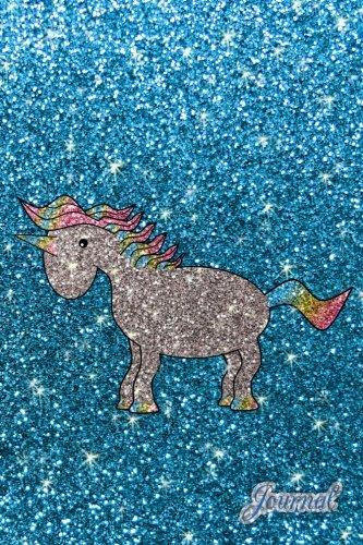 Download Journal: Faux sky blue glitter cute sparkles unicorn notebook ebook