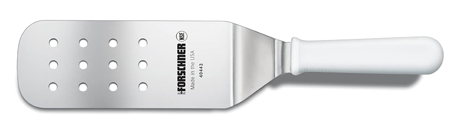 Victorinox 3-Inch by 8-Inch Head Perforated Turner White Poly Handle 40443