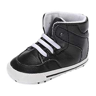 57181cdd228 NEEDRA Infant Baby Girls Boys Crib Shoes Soft Sole Anti-Slip Sneakers (1.5  UK