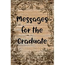 Messages for the Graduate: Blank Lined Guest Book - 6x9 - High School College Graduation