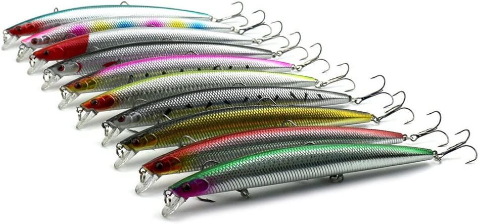 18 cm Avalita 10 se/ñuelos de Pesca flotantes para pececillos de 26 g